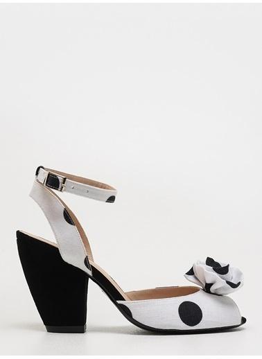 Faraway Polka Sandals Beyaz